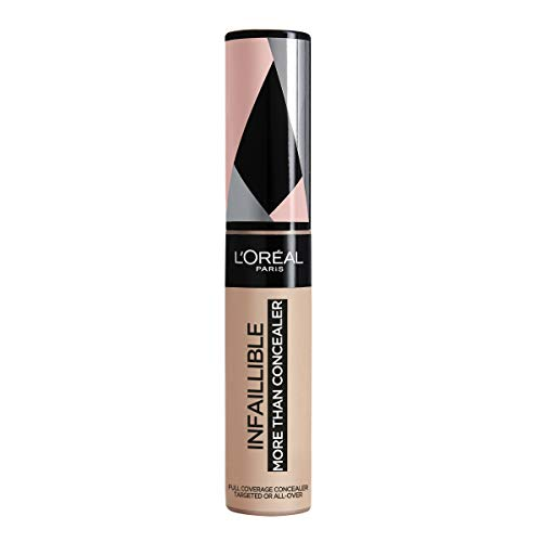 L'Oreal Paris Infalible More Than Concealer, Corrector Cobertura Completa, Tono 324 Oatmeal/Avoine - 11 ml