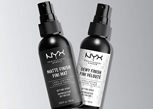 NYX Professional Makeup Spray fijador Makeup Setting Spray, Larga duración, Ligero, Fórmula vegana, Acabado Matte, Pack doble, 60 ml