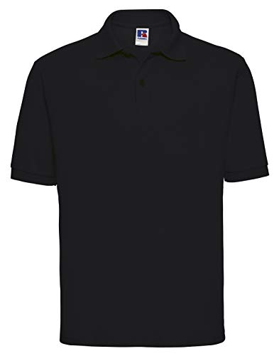 (X-Small, Black) - Jerzees Classic Polo Shirt