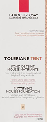 La Roche Posay Toleriane Teint Mattifying Mousse Foundation SPF 20-01 Ivory 30ml