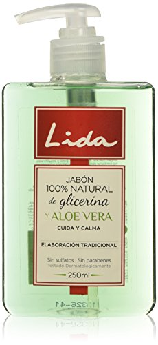 Lida Jabón 100% Natural Manos Glicerina y Aloe Vera - 250 ml