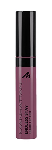 Manhattan Endless Stay Liquid Lip Tint, color 50R Soft Nude, color labios duradera con textura ligero sin a pegar, 1er Pack (1 x 7 ml)