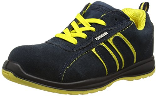 Blackrock Hudson Trainer - Zapatillas de seguridad con punta de acero, Unisex Adulto,Multicolor (Navy/Yellow), talla 41 EU (7 UK)