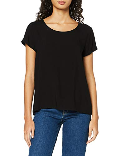 Only Onlfirst One Life SS Solid Top Noos Wvn Camiseta, Negro, 34 para Mujer