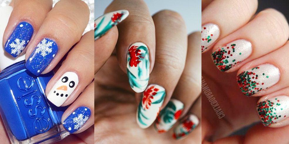 45 ideas de arte de uñas de Navidad chic y festivo para ...