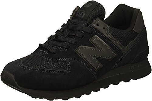 New Balance Hombre 574v2-core Trainers Zapatillas, Negro (Triple Black), 40.5 EU