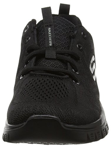 Skechers Graceful-Get Connected, Zapatillas Mujer, Negro (BBK Black Mesh/Trim), 37.5 EU