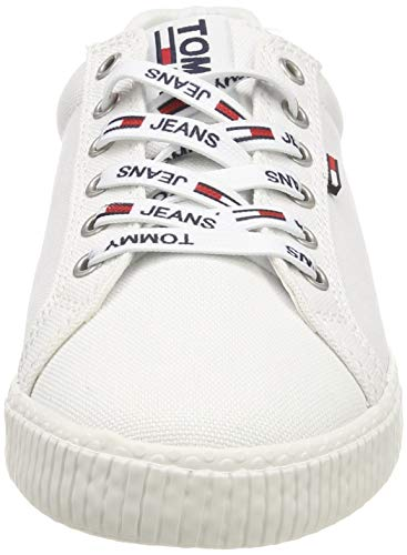 Tommy Hilfiger Tommy Jeans Casual Sneaker, Zapatillas Mujer, Blanco (White 100), 38 EU