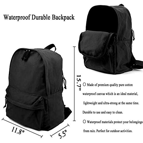 Homebe Mochila antirrobo Impermeable,Canvas Laptop Backpack, Waterproof School Backpack For Men Women, Gsdhgsh.PNG Outdoor Travel Daypack College Student Rucksack Fits Up To 15.6 Inch Computer