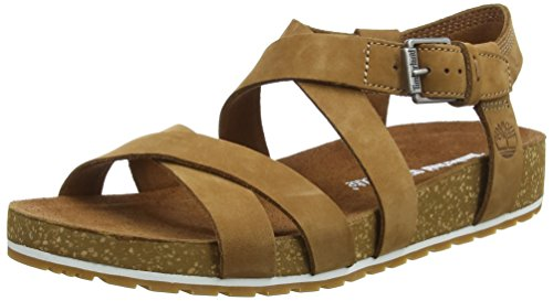 Timberland Malibu Waves Ankle, Sandalias Mujer, Marrón Brown Rust Nubuck, 36 EU