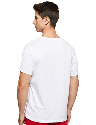 Tommy Hilfiger Cotton cn tee SS Icon Camiseta, Classic White 100, M para Hombre