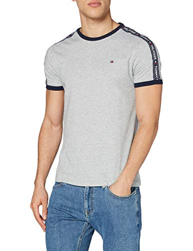 Tommy Hilfiger RN tee SS Camiseta, Gris (Grey Heather 004), Small para Hombre