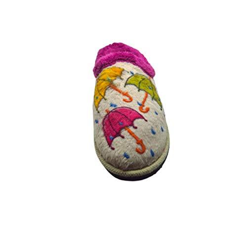 Zapatillas Casa Mujer Calidad Fabricado Espa/ña Gran Plantilla Anatomica 3cm Pantuflas Microfibra Forro Abrigo Transpirable Slippers M/áxima Comodidad Estar por Casa Mujer a Diario Originales