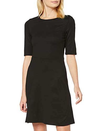 Marca Amazon - find. Vestido Corto con Estampado de Rayas para Mujer, Gris (Black), 40, Label: M