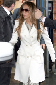 Jennifer Lopez Coat on 061511 Jennifer Lopez White Coat 544110615173813