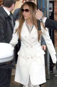 Jennifer Lopez Coat on 061511 Jennifer Lopez White Coat 544110615173813