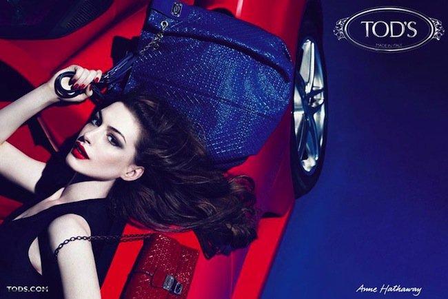 Anne Hathaway y Tod's